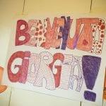 CasaOz - un cartellone realizzato dai bambini di CasaOz per Giorgia Boni