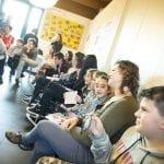 CasaOz - I bambini di CasaOz durante l'incontro con Giorgia Boni